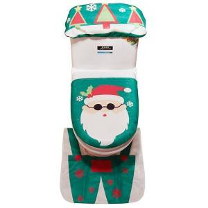 Christmas Toilet Cover Bathroom Decoration Set