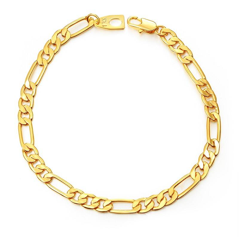 Watch Agent In Yiwu - 18K Gold Charm Bracelet for Men Women High Quality 5mm – YINO