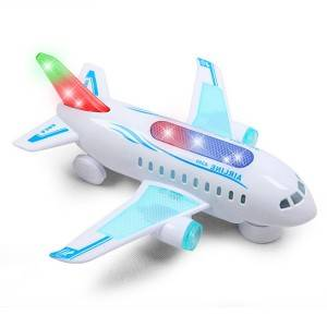 Airplane Model Toy with Light and Music Plastic Multi-functional Educational Plane