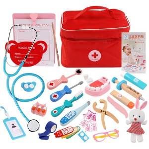 Kids Doctor Game Toys Set Medical Pretend Play Education Simulation Bag Model