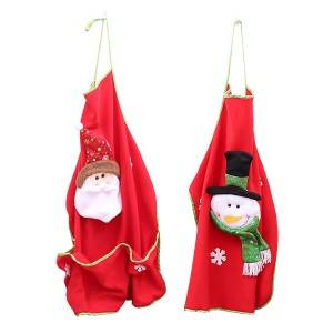 Christmas Kitchen Apron Creative Costume Cafe Bar Waiter Clothes