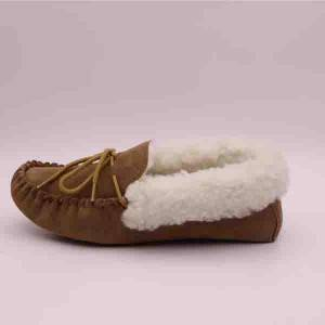 Lady Cuff Rubber sole Wool Moccasins