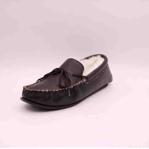 Men Leather Wool Moccasins Featured Image
