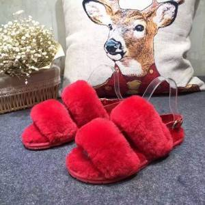 Fashion ladies slippers in any color can be made directly from the factory with natural sheepskin
