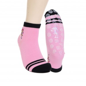 New Arrival China Bulk Trampoline Socks - Fashion New Design Pink Cartoon Grip Socks Anti Slip Socks for Trampoline – Sungnan