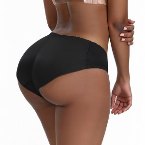 Enhencer Padded Seamless Butt lifter shapewear Breathable Invisiable Fake Buttock Booty Padded Thong for Women