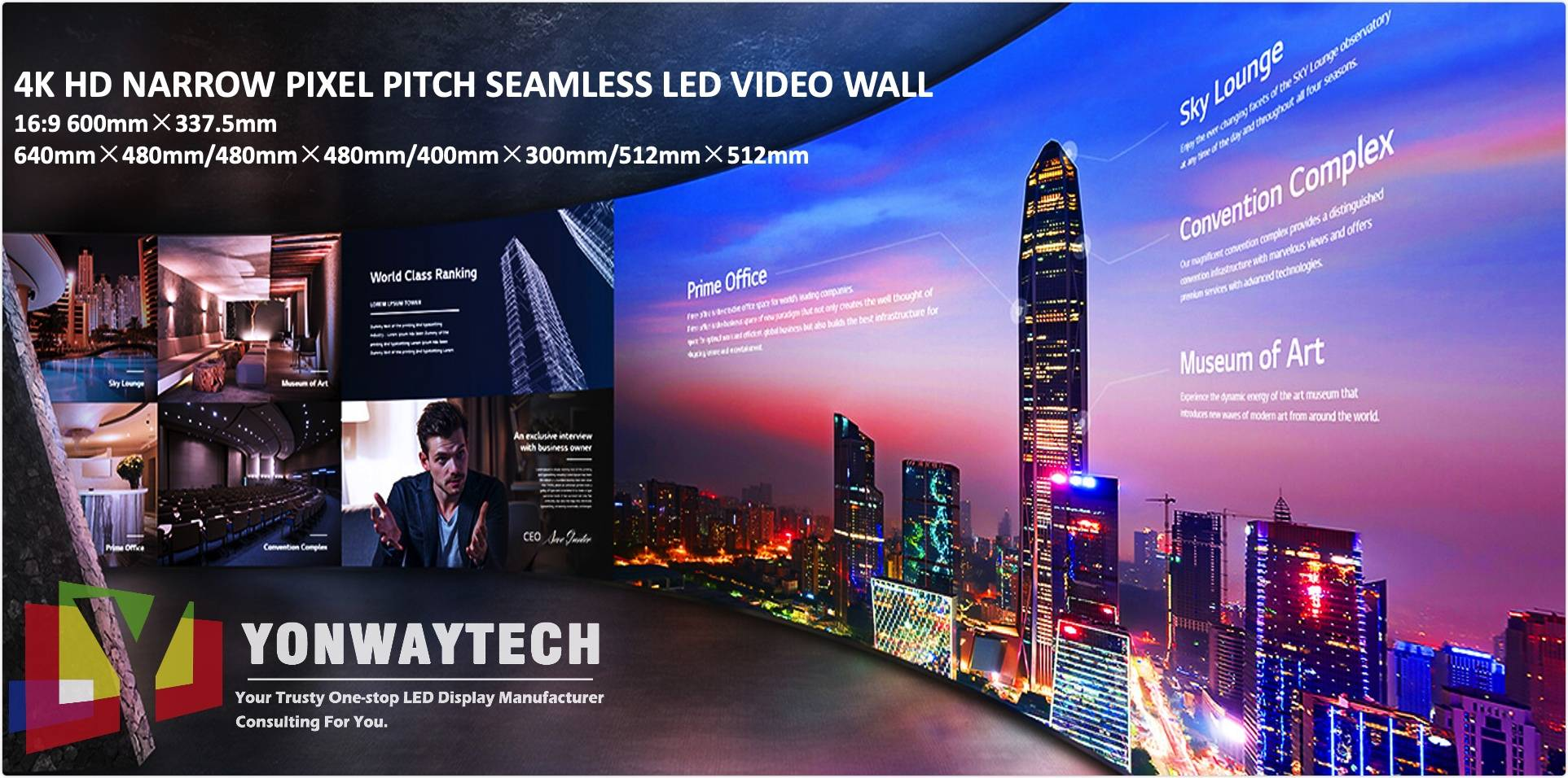 4K HD NARROW PIXEL PITCH LED VIDEOWALL P0.9375,P1.25,P1.56,P1.667,P1.83,P1.86,P1.923,P2,P2.5