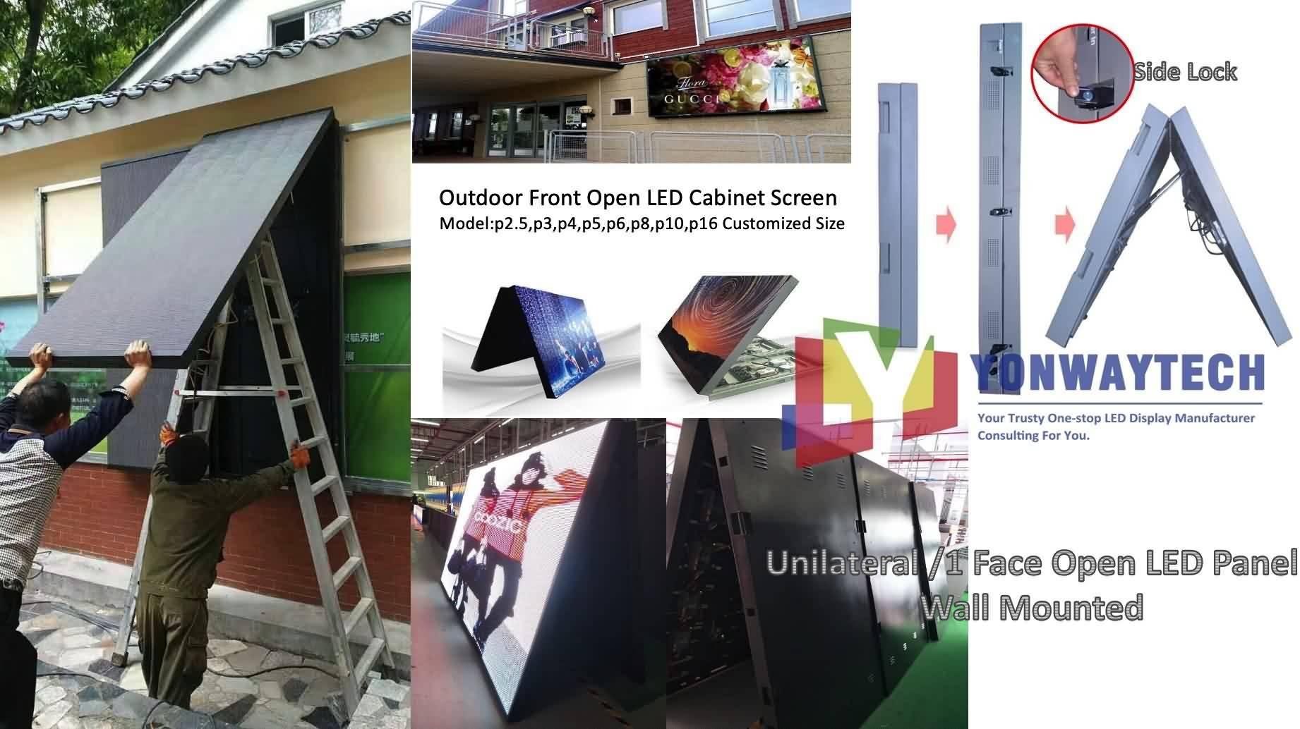 Outdoor Front Open LED Screen,Advertising Digital LED Billboard (2)