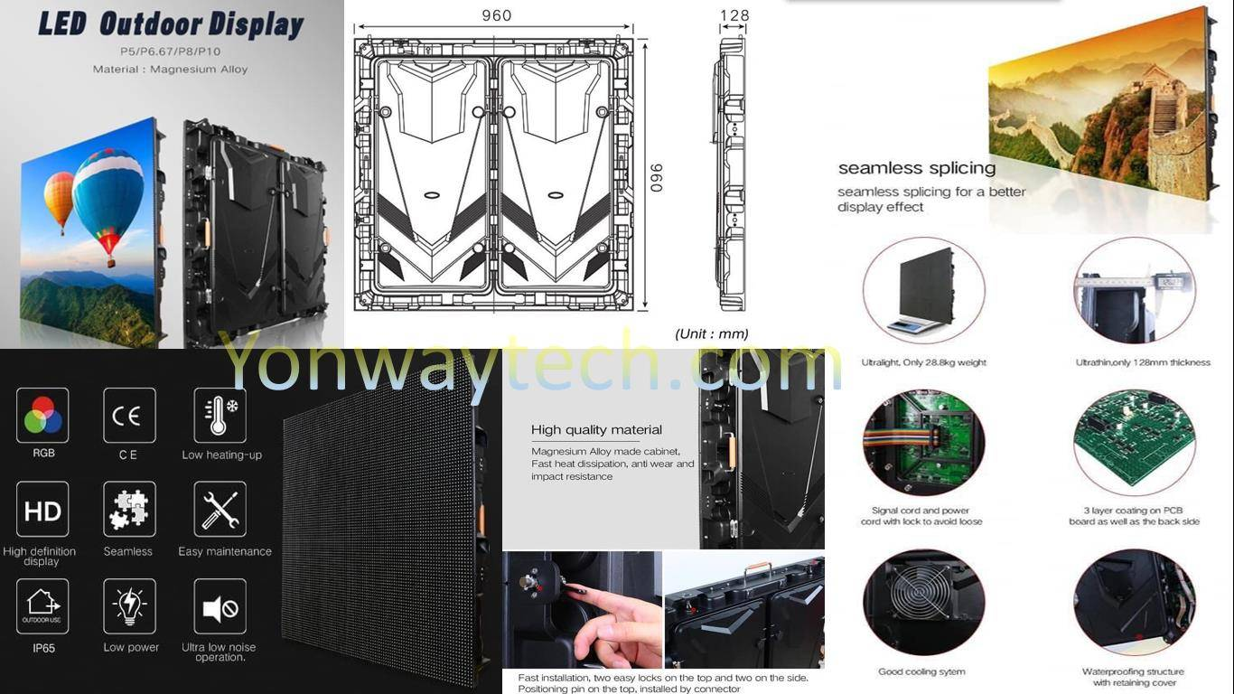 Factory supplied Screen Mirroring - 960×960mm Series Magnesium Alloy LED Display Screen – Yonwaytech