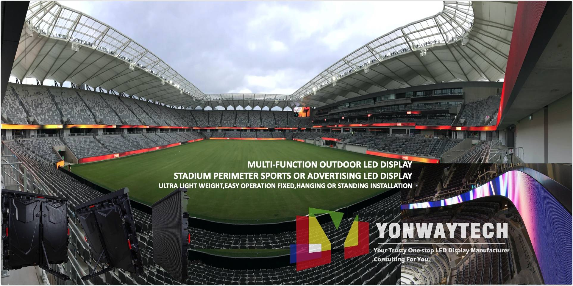 Stadium Perimeter Sport led screen display p5 p8 p10 p16 full color led