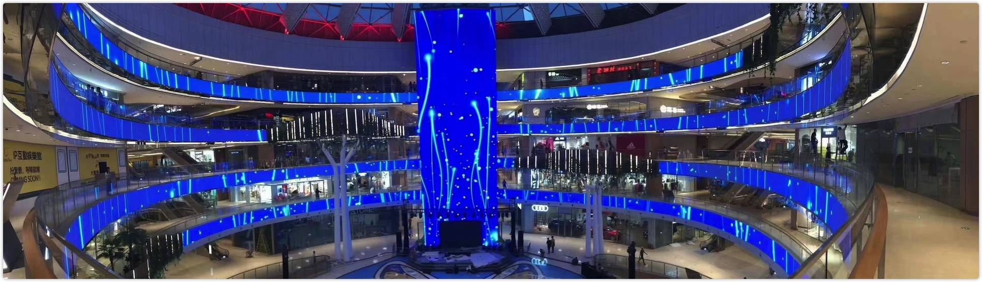 indoor fixed transparent led display yonwaytech