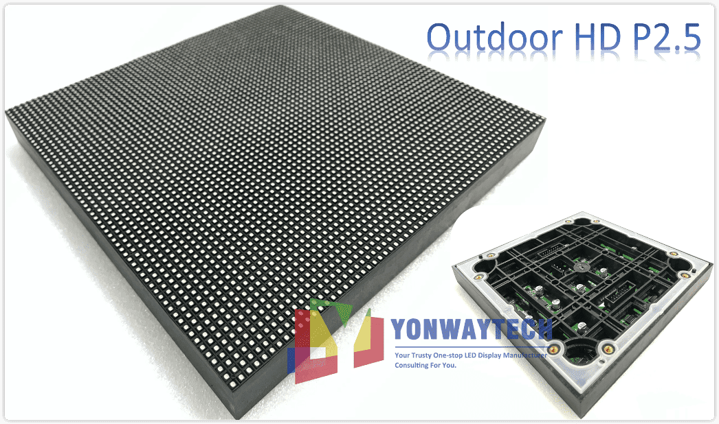 China Factory for Commend Center - Outdoor Full Color P2.5 LED Module Size 160x160mm HD Narrow Pixel Pitch Fixed – Yonwaytech