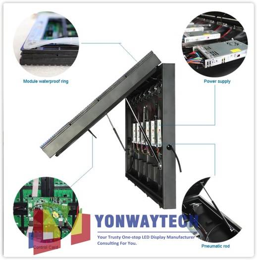 Newly Arrival Flexible Led Screen - Outdoor Front Open LED Screen,Advertising Digital LED Billboard – Yonwaytech