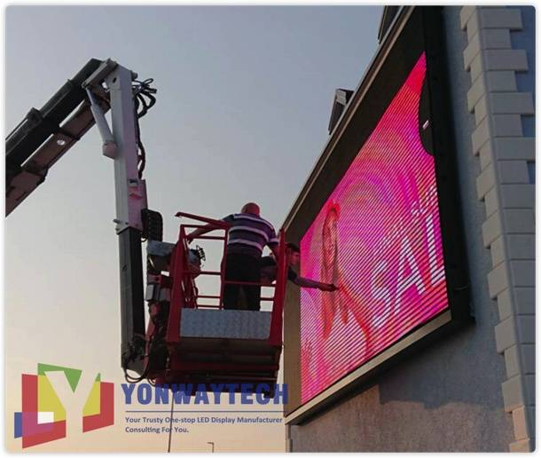 Cheap price Exterior Led Screen - Outdoor Front Maintain LED Display Screen,Advertising Digital Billboard – Yonwaytech