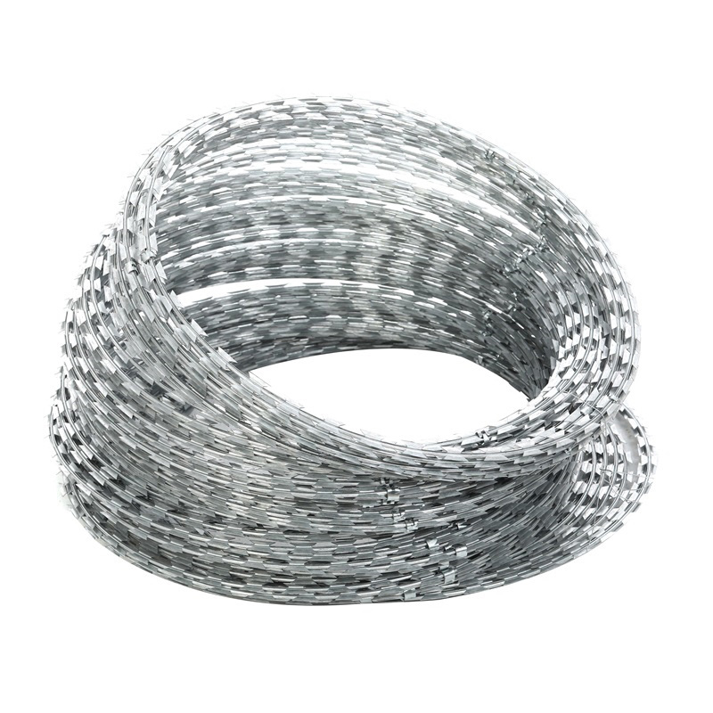 Wholesale Price China Pvc Coated Gi Chain Link - Iron Wire Material Anti-rust razor blade  wire for sale – YouYou