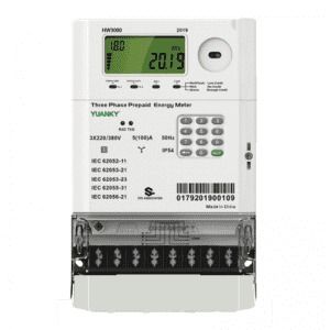 Meter factory HW3000 three phase IP54 5A 10A smart meter