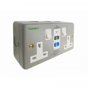 RCD UK safety Box type 13A 30mA RCD Protected Safety Socket
