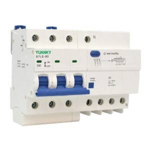 RCBO C40 N7 Residual Current Breaker Overload 30ma RCBO for industrial control
