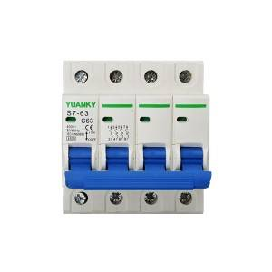 MCB C32 63A 230V deep window 1p 2p 3p 4p miniature circuit breaker electrical equipments supplies