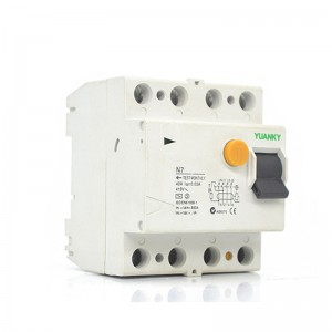 RCCB YUANKY New Shape High Quality Leakage Protection Residual Current Circuit Breaker