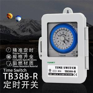 Timer New arrival precise timing flame retardant material timer 20A R300h time switch