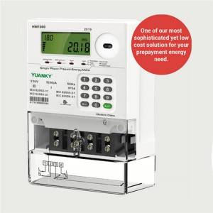 Prepayment energy meter single phase two wires network 5(80)A Keypad Electricity Meter