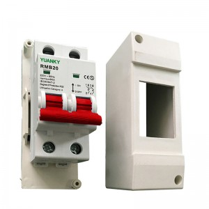 2020 High quality 4way Distribution Box - Wholesale 2 pole type B C D mcb Circuit breaker with protective cover mcb box – Hawai