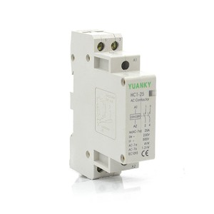 Wholesale 230V 400V HC1 Series Electrical 2 pole 20-60A types AC power contactor