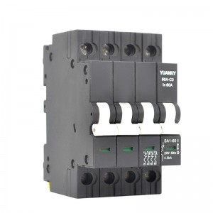 MCB 4 Pole 60 Amp Mcb For Plastic Modular Magnetic Circuit Breaker