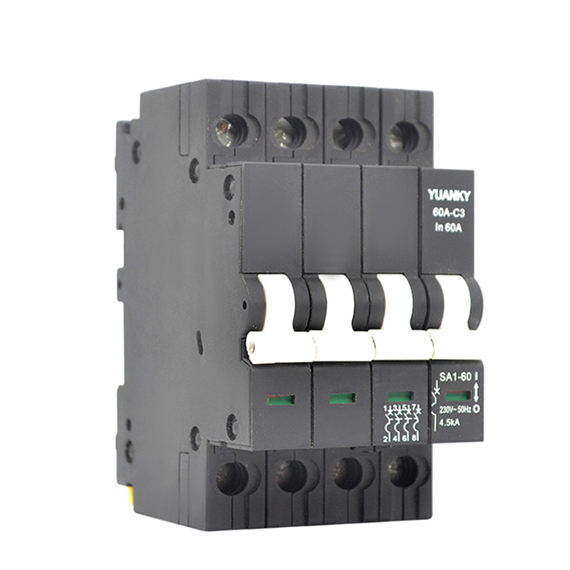MCB 4 Pole 60 Amp Mcb For Plastic Modular Magnetic Circuit Breaker Featured Image