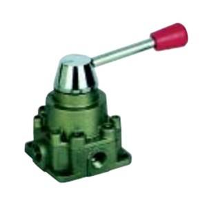Valve YUANKY switching valve manual three-position & four-port change valve Pneumatic valve base