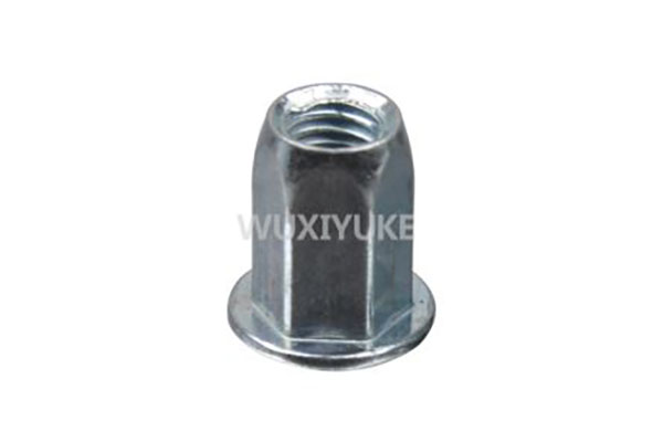 China Supplier Flat Head Open End Blind Rivet Nut Head Type - Flat Head Full Hexagonal Body Rivet Nut introduction – Yuke