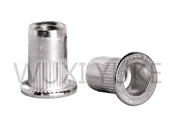 High definition Steel Countersunk Thin Sheet Rivnuts Rivet Nuts - Open End Flat Head Knurled Body Blind Rivet Nut – Yuke
