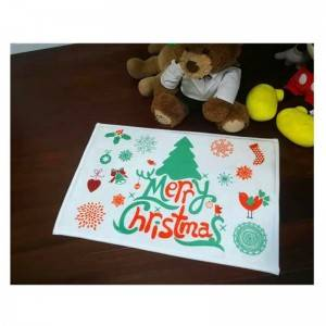 Made in China Carpet Factory Cheap 50*80cm Coral Fleece Christmas Doormats Outdoor