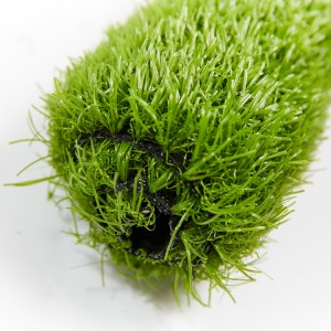 Three-color artificial turf beautification