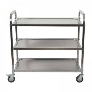 China Wholesale Room Service Carts Manufacturers - DuoDuo Restaurant Trolley CC-3S M L 3 Tier Clearing Trolley – DuoDuo