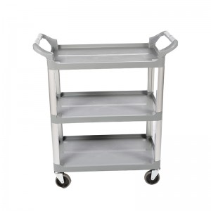 Professional China 3-Shelf Utility Stainless Cart - Restaurant Trolley CC-S3S/CC-S3L – DuoDuo