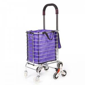DuoDuo Shopping Cart DG1008 with Removable Bag & Stair Climber Folding Cart