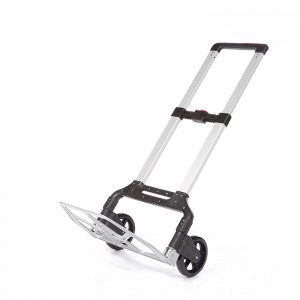 DuoDuo Folding luggage trolley DX3013 with Wheels Portable Heavy Duty Aluminum Collapsible Luggage Cart