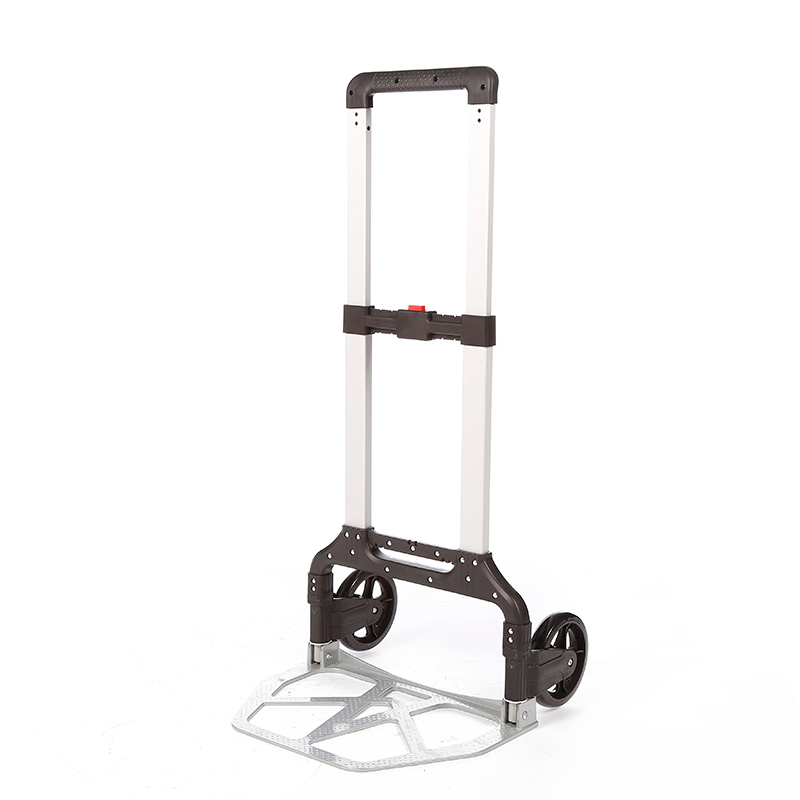 DuoDuo Folding luggage trolley DX3013 with Wheels Portable Heavy Duty Aluminum Collapsible Luggage Cart Featured Image