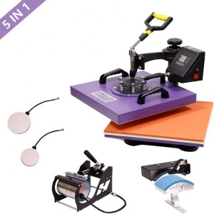 New 5 in 1 combo heat press machine