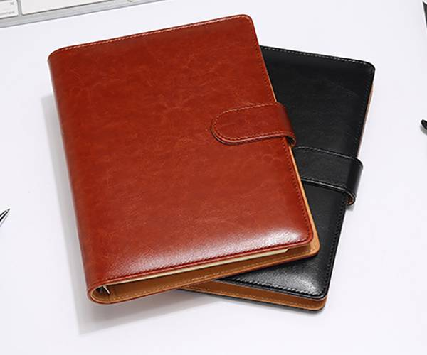Newly Arrival Antique Leather Notebook - custom leather color custom specification business buckle notebook – Yuxingyuan