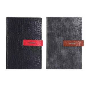OEM Manufacturer China Customized Design Business Leather Diary Notebook with Card Pocket
