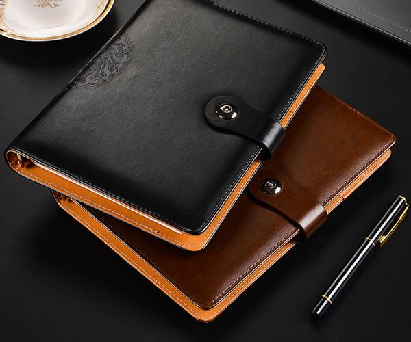 Super Lowest Price Leather Travelers Notebook - custom leather color custom specification business buckle notebook – Yuxingyuan