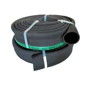 Big Discount Steam Rated Hose - Rubber Lay Flat Hose – Zebung