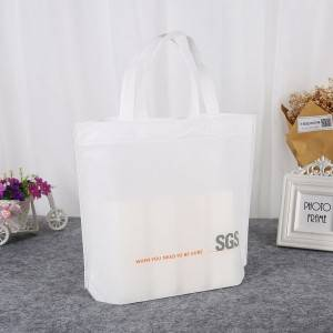 Wholesale Customized Printing Logo China Advertising Shopping Pp Nonwoven Bag Black White Blue Non-woven Promotional Bags
