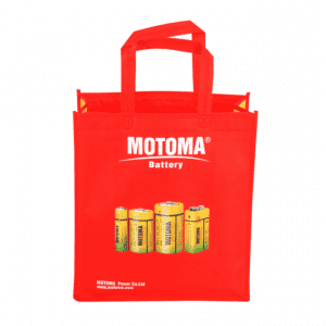 Recyclable Grocery Shopping Bag Supermarket Red Tote Bag Non Woven Bag