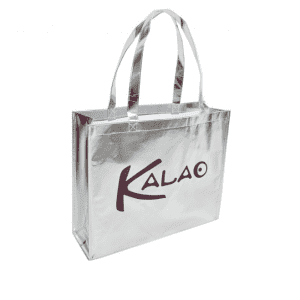 Non Woven Bag Metallic Laser Bag Silk Printing Custom Logo Shopping Bags