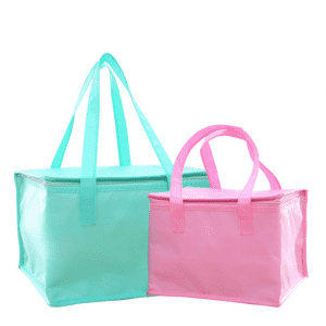 Zipper Pink Blue Nonwoven Thermal Bag Take Out Seafood Cake Bag Non Woven Insulation Bag For Food