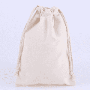 Drawstring bag natural color blank cotton drawstring pocket creative canvas bundle pocket can print logo
